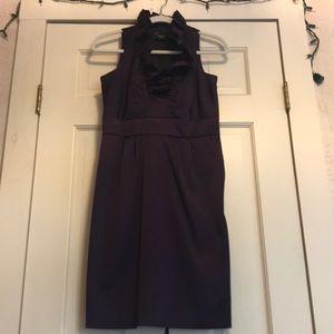 Plum V-Neck cocktail dress